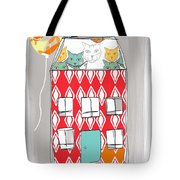 Cat House Tote Bag