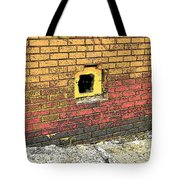 Cat In A Hole In A Wall Tote Bag