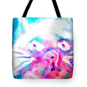 Think About The Cat In Blue Tote Bag