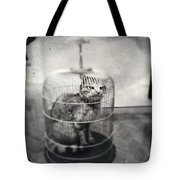 Cat In Cage Tote Bag