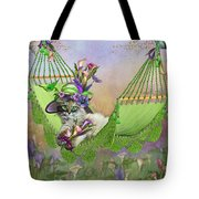 Cat In Calla Lily Hat Tote Bag