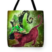 Cat In Fancy Witch Hat 2 Tote Bag