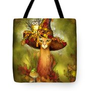 Cat In Fancy Witch Hat 3 Tote Bag
