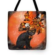Cat In Halloween Cupcake Hat Tote Bag