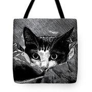 Cat In Hiding Tote Bag