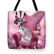 Cat In Mad Hatter Hat Tote Bag by Carol Cavalaris