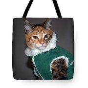 Cat In Patrick's Coat Tote Bag