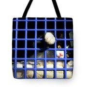 Cat In Pet Carrier Tote Bag
