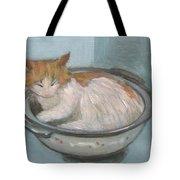 Cat In Casserole  Tote Bag