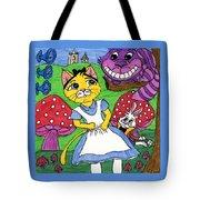 Cat In Wonderland Tote Bag