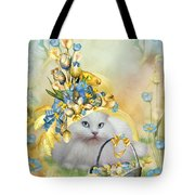 Cat In Yellow Easter Hat Tote Bag