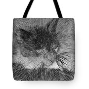 Cat - India Ink Effect Tote Bag