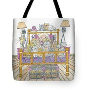Cat Lady - In Bed Tote Bag