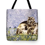Cat Mint Wc On Paper Tote Bag