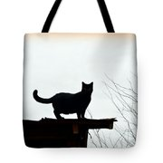 Cat On A Tin Roof 2 Tote Bag
