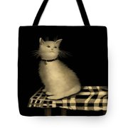 Cat On Checkered Tablecloth   No. 1 Tote Bag