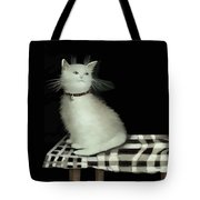 Cat On Checkered Tablecloth   No. 2 Tote Bag