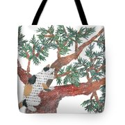 Cat Art Modern Japanese Torn Newspaper Collage Art By Bless Hue Tote Bag
