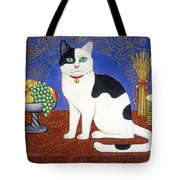 Cat On Thanksgiving Table Tote Bag