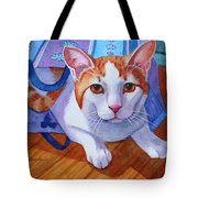 Cat Out Of The Bag Tote Bag