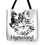 Cat Patrol Homeland Security Tote Bag
