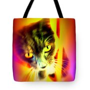 You Can Come And Visit The Cat People Tote Bag