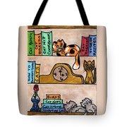 Cat Shelves Tote Bag