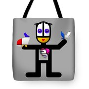 Cat With An Idea Tote Bag