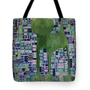cat with lime wheel II Tote Bag