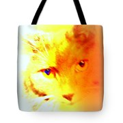 Fall In Love With The Cat Woman Tote Bag by Hilde Widerberg