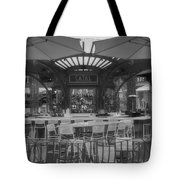 Catal Outdoor Cafe Downtown Disneyland Bw Tote Bag
