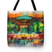 Catal Outdoor Cafe Downtown Disneyland Photo Art 01 Tote Bag