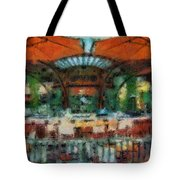 Catal Outdoor Cafe Downtown Disneyland Photo Art 03 Tote Bag