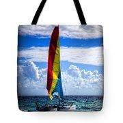 Catamaran At The Beach Tote Bag