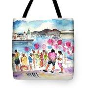 Catamaran Party In Cartagena Tote Bag