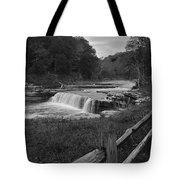 Cataract Falls Indiana Black N White Tote Bag