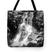 Cataract Falls Smoky Mountains Bw Tote Bag