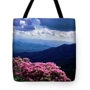 Catawba Rhododendron In Bloom, Yellow Tote Bag