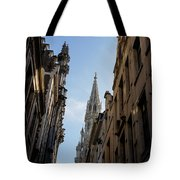 Catching A Glimpse Of Grand Place Brussels Belgium Tote Bag