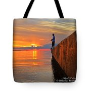 Catching A Navarre Sunset Tote Bag