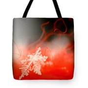Catching A Snowflake Tote Bag