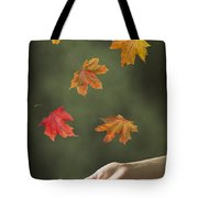 Catching Leaves Tote Bag