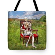 Catching Up On Human Anatomy And Physiology Tote Bag by Betsy Knapp