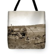 Caterpillar Sixty Working A Field  Circa 1930 Tote Bag