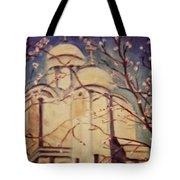 Cathedral At Springtime Tote Bag