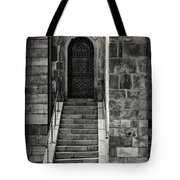 Cathedral Door And Steps Tote Bag