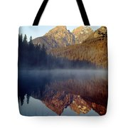 4m9304-cathedral Group Reflection, Tetons, Wy Tote Bag