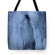 Cathedral Ice Waterfall Tote Bag