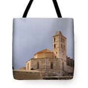 Cathedral In Ibiza Town Tote Bag