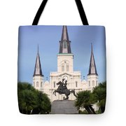 Cathedral In Jackson Square Tote Bag